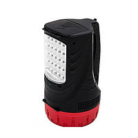 Фонарь аккумуляторный 1LED 5W + 25 LED