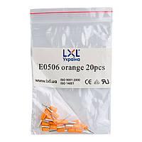 Наконечник штыревой втулочный изолированный 0.5 мм² (20 шт.) оранжевый LXL