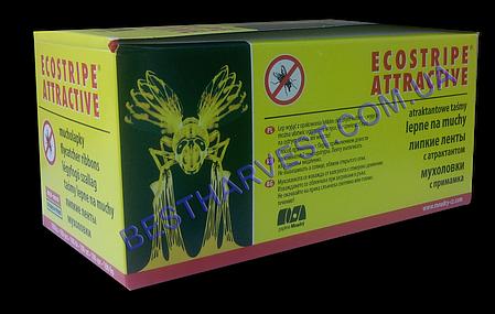 Липкая лента от мух Ecostripe оригинал, средство от мух, мухоловка, фото 2