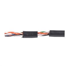 Кабель для интернета витая пара UTP 4х2х0,51 CCA черный полиэтилен наружный монтаж EH.LAN-23 ElectroHouse