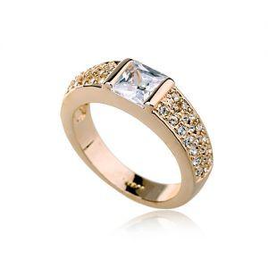 Кільце ПЕРСІЯ ювелірна біжутерія золото 18К декор кристали Swarovski