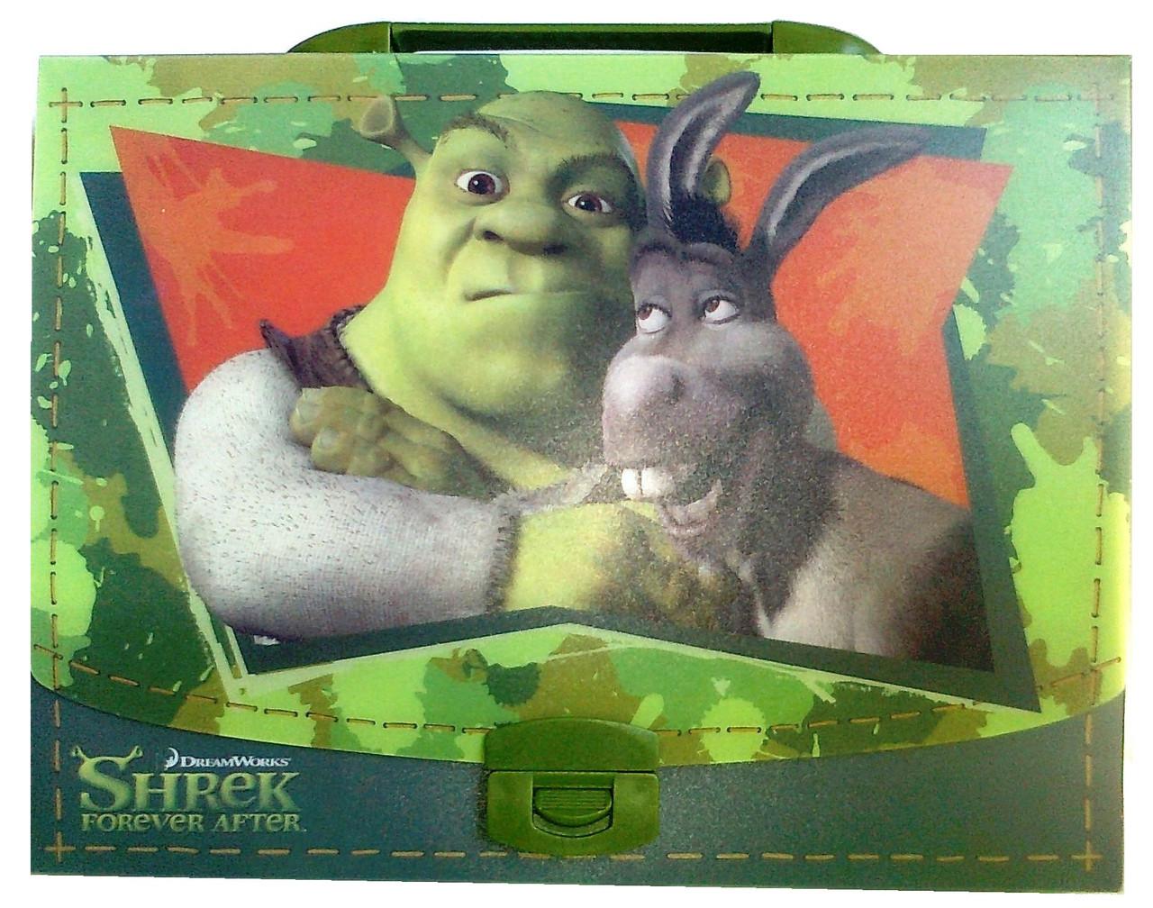 """Пластиковый портфель на замке """"Shrek"""" 490661"""