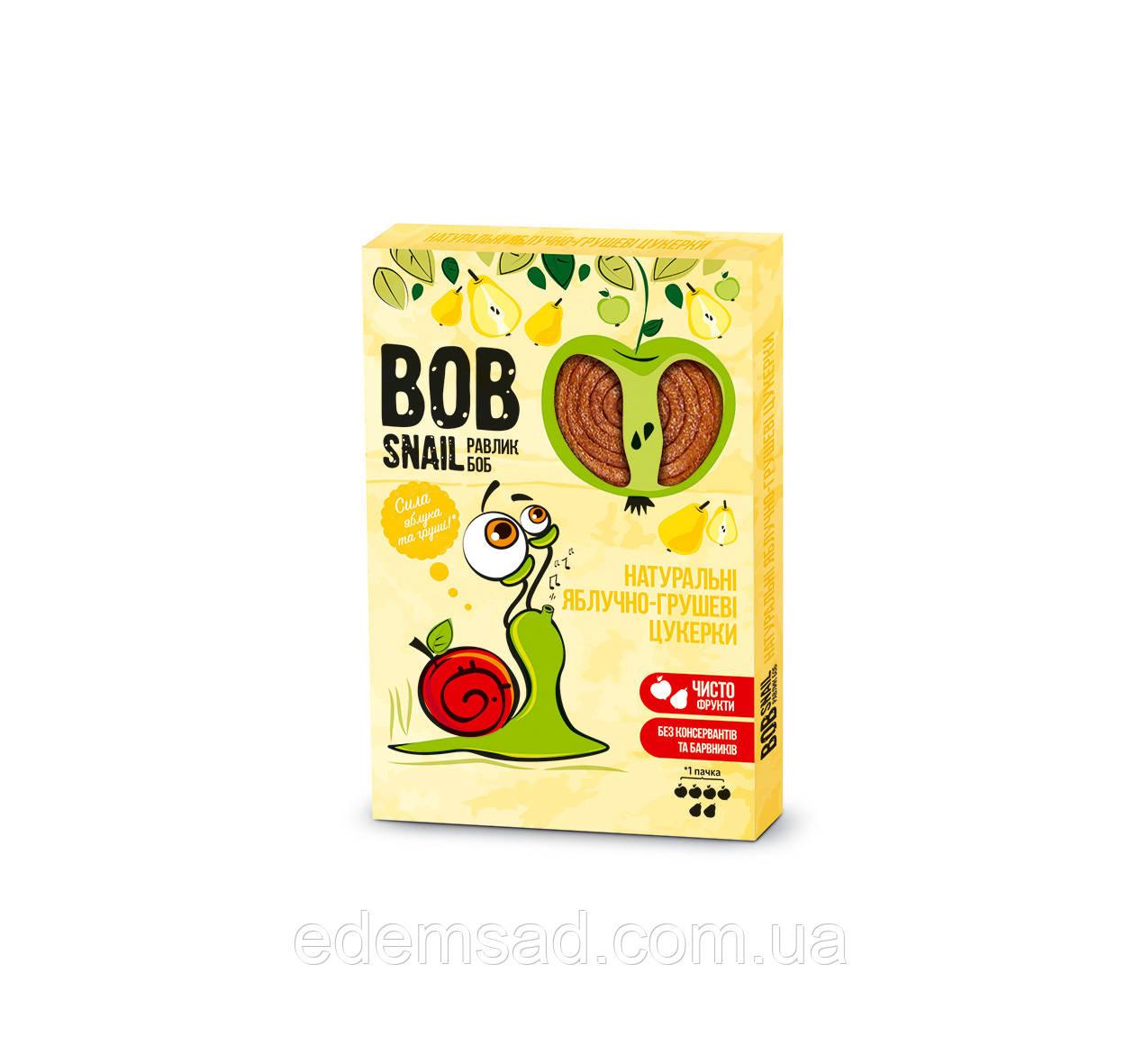 Натуральные конфеты BobSnail с яблоком и грушей, 30г