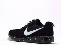 Кроссовки Nike Roshe Run Dots черный/белый замшевые 40