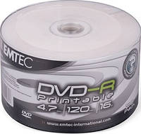 DVD-R и DVD+R EMTEC 4.7Gb Inkjet Printable (white)