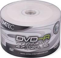 DVD-R и DVD+R EMTEC 4.7Gb Inkjet Printable (white)