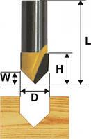 Фреза пазовая галтельная V-образная ф6.3, 90°, хв.8мм (арт.9306)