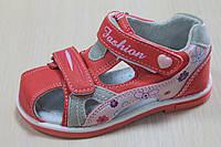 Красные босоножки на девочку, детская летняя обувь, серия ортопедия р. 25