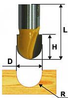 Фреза пазовая галтельная ф12.7х10, r6.35, хв.8мм (арт.9297)