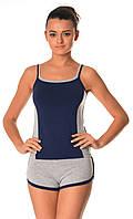 Бавовняна жіноча піжама (майка і шорти) 0038/39