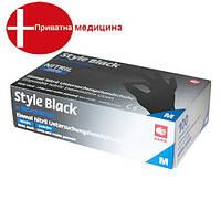 Перчатки нитриловые без пудры  STYLE COLOR BLACK