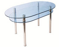 Стол стеклянный КС-6 прозрачный