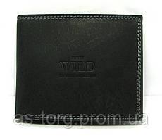 Шкіряний гаманець чоловічий чорний Україна Always Wild