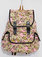 Рюкзак часы розовый с желтым