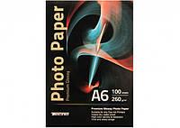 Фотобумага глянцевая Tecno (Premium) А6 260г/м2 100 листов/упаковка