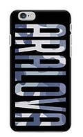 Именной чехол для iPhone, Samsung, Lenovo, Meizu, Xiaomi, Nokia, LG, Sony, Htc Чехол с именем Буквы Хаки, Смартфон, Coverphone, Украина, фото 1