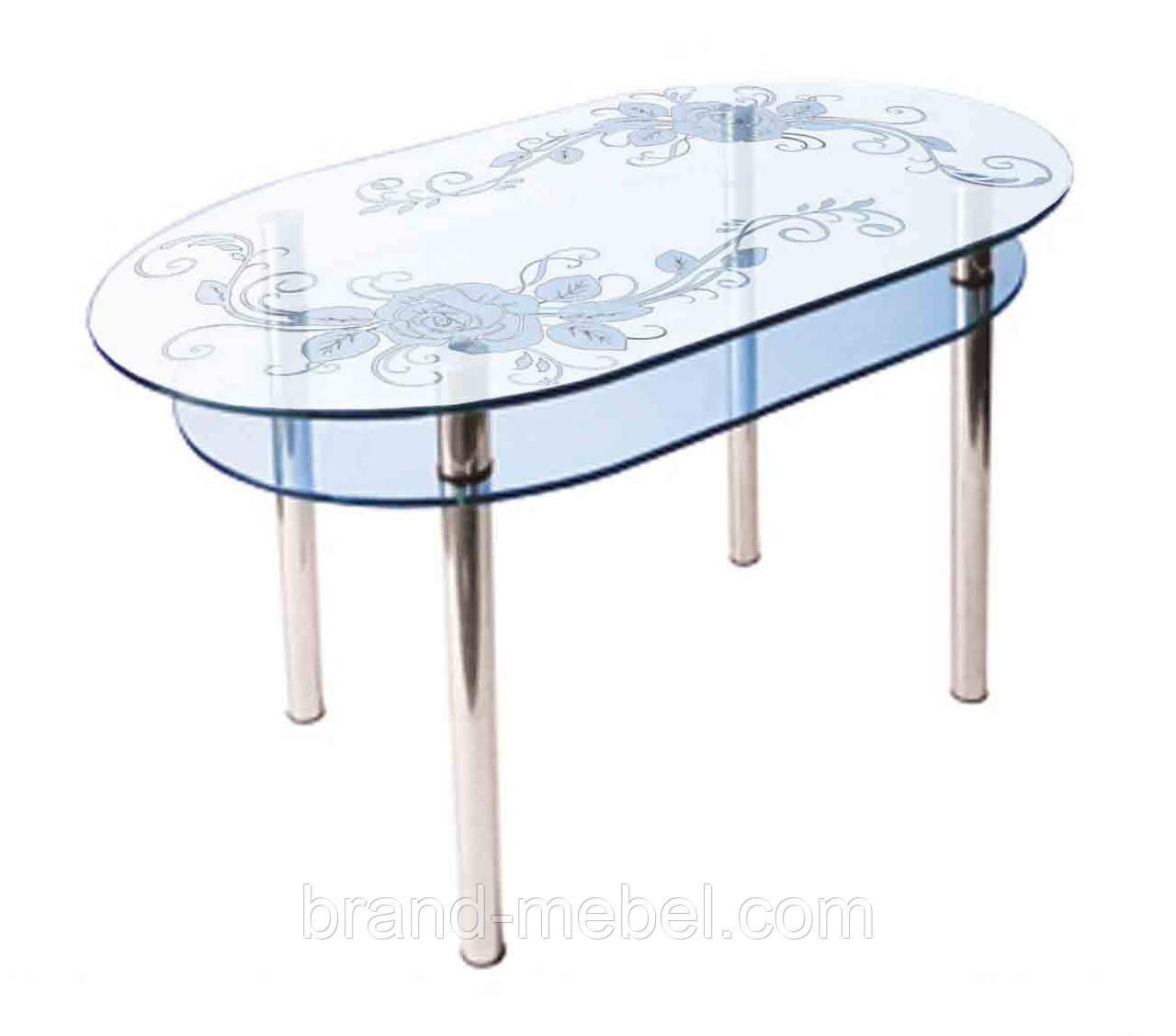 Стол стеклянный КС-6 пескоструй