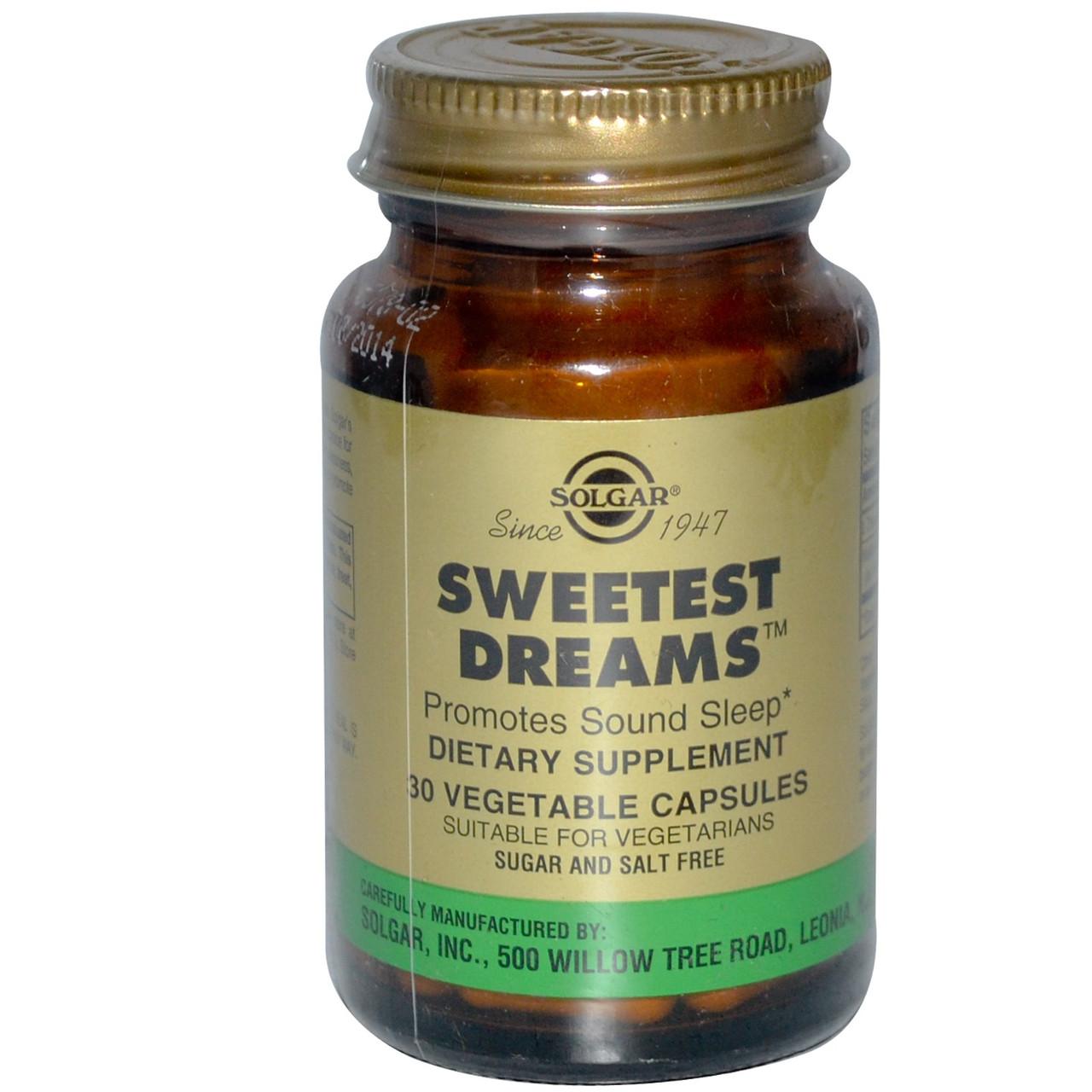 """""""Сладкие Сны"""", Solgar, капсулы для улучшения сна 30 капсул"""
