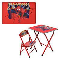 Дитячий столик-парта зі стільчиком DT 19 людина павук