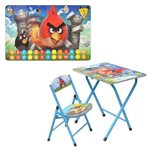 Детский столик -парта со стульчиком DT 19-5 angry birds