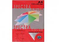 Цветная бумага  А4 80г/м2 Spectra Color Red 250(100)