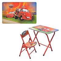 Детский столик -парта со стульчиком DT 19-7 тачки