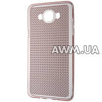 Силиконовый чехол Baseus Lustre для Samsung Galaxy J7 (J710) розовый