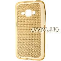 Силиконовый чехол Baseus Lustre для Samsung Galaxy J1 (J120) 2016 золотой