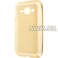 Силиконовый чехол Baseus Lustre для Samsung Galaxy J1 (J100H) золотой