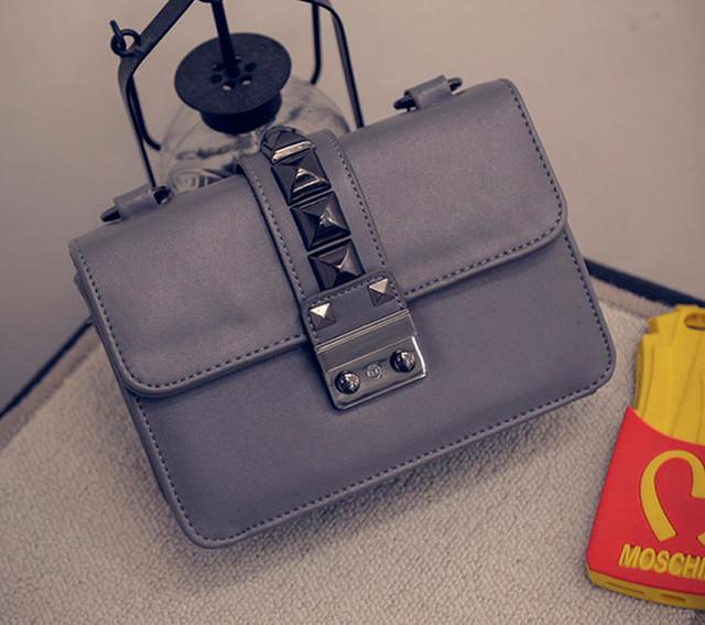 Женская сумочка через плечо | серая