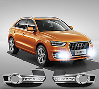 Audi Q3 - штатные дневные ходовые огни LED- DRL , фото 1