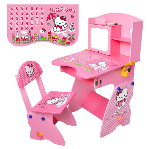 Детская парта растишка Bambi M 0324 hello kitty розовая