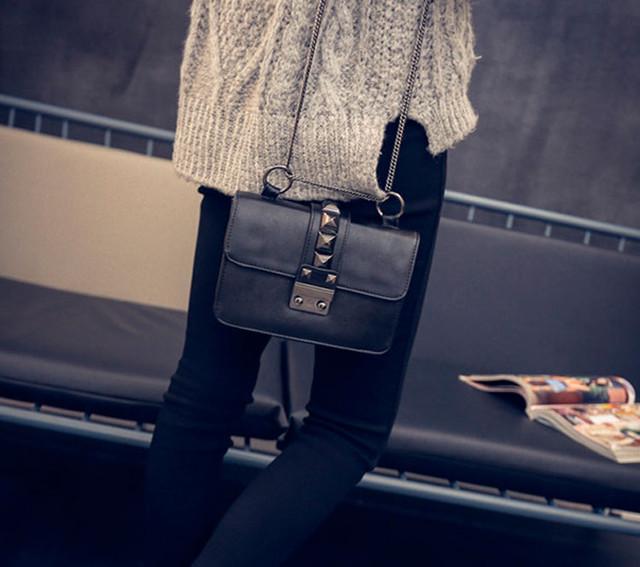 Женская сумочка через плечо | черная