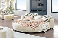 Кровать круглая Элегия-10 (Мебель-Плюс TM)