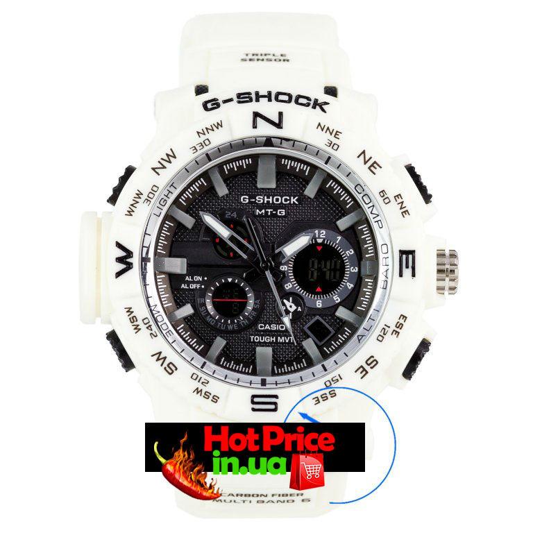 Часы MTG-1000 Белые с черным циферблатом