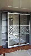 Шкаф-Купе «Зеркало графит с пескоструйным рисунком»