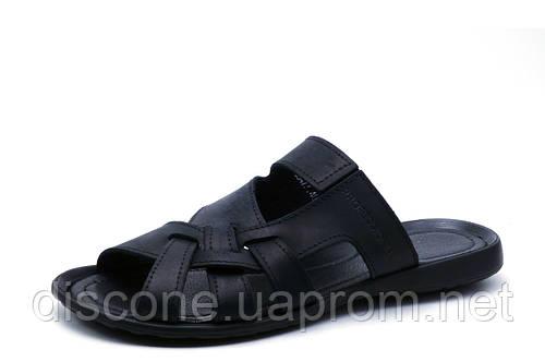 Шлепанцы Cardio, мужские, кожаные, черные, р. 41 42