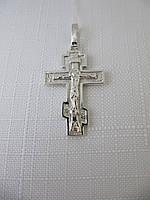 Крестик серебряный 875* с распятием