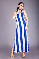 Яркий летний молодёжный сарафан в модную полоску