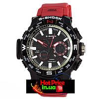 Часы MTG-1000 Черные с красным ремешком