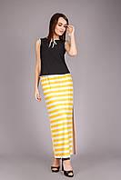 Шикарная длинная летняя юбка из тонкой и приятной вискозы