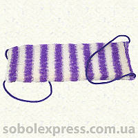 Мочалка антицеллюлитная с паролоном внутри с верёвочными ручками