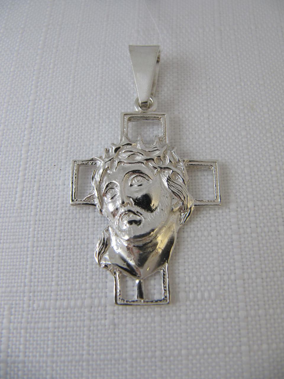 Серебряный Крестик 925* с ликом Христа