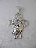 Серебряный Крестик 925* с ликом Христа, фото 1