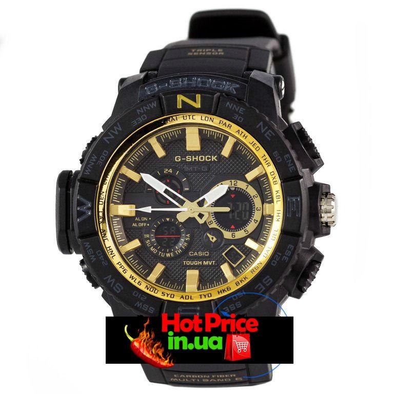 Часы  MTG-1000 Черные с золотым