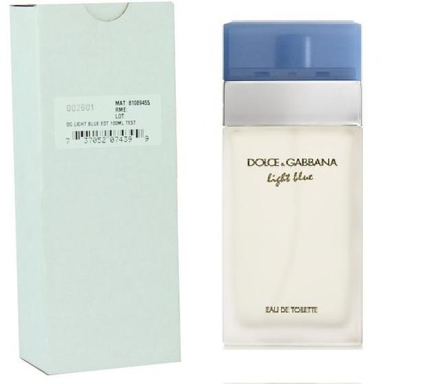 Женская туалетная вода Dolce&Gabbana Light Blue 100 мл. АОЭ (тестер с крышечкой) (реплика)