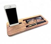 Подставка для телефона из дерева Бизнес