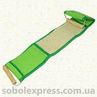Мочалка антицеллюлитная сизаль мелкий/махра с деревянными ручками
