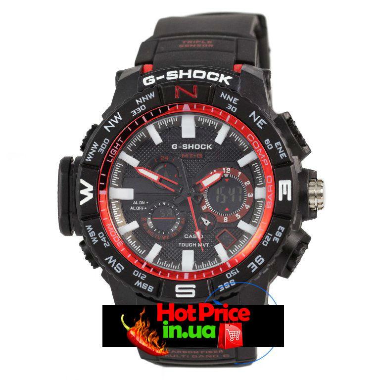 Часы  MTG-1000 Черные с красным