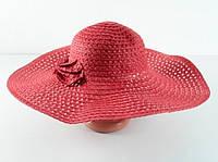 Соломенная шляпа Котьир 48 см красная